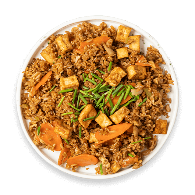 ryż smażony z warzywami i tofu