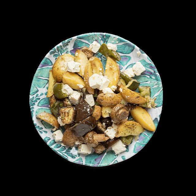 pieczone warzywa z serem feta