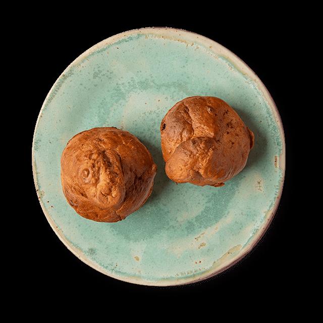 słodkie muffiny z bananem i czekoladą